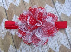 Polyester Flower, Baby Girl Hairband, Hairband for Newborn, Elastic Hairband, Photo Shoot Prop by OurKraftyCreations on Etsy