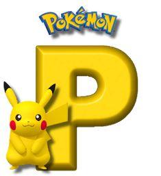 Abecedario de Pikachu de Pokémon. Pikachu Alphabet. 150 Pokemon, Festa Pokemon Go, Pokemon Party, Pokemon Birthday, Brother Birthday, Boy Birthday, Happy Birthday, Pokemon Letters, Pikachu Drawing