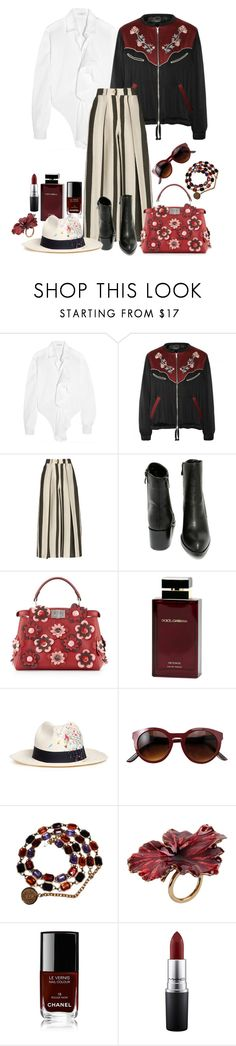 """Style#1270"" by mussedechocolate ❤ liked on Polyvore featuring Tome, Isabel Marant, Etienne Deroeux, Very Volatile, Fendi, Dolce&Gabbana, Sensi Studio, Chanel, Madina Visconti di Modrone and MAC Cosmetics"
