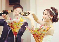 結婚式のファーストバイトの代わりの演出クラレットパンチ作り