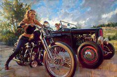 #ugurbilgin #UniTED #Riders #Brotherhood of #Turkey   #motorcycle   motorcycle oil paint