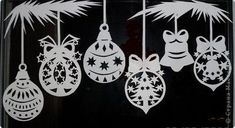 This is an amazing site. It's in Russian so hit the translate button. The the stencils came from this site - lots of others as well! Christmas Paper Crafts, Christmas Crafts, Christmas Ornaments, Handmade Crafts, Diy And Crafts, Christmas Ornament Template, Holiday Pictures, Kirigami, Xmas Decorations