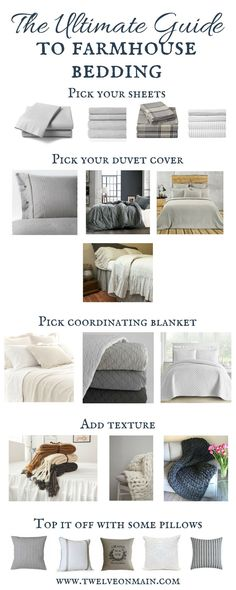 This is the best guide to farmhouse bedding ever! If you have a hard time picking out bedding, check out this ultimate guide to farmhouse bedding!