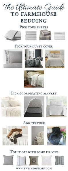 Ultimate Farmhouse Bedding Guide | farmhouse bedding | neutral bedding | bedroom decor | ticking stripe bedding
