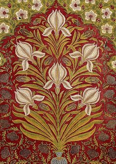 Mughal Empire floral tent hanging, printed painted and dyed cotton, early 18th cent.  V&A Museum.
