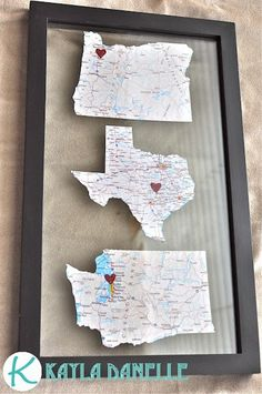 DIY #map décor - perfect to showcase destinations that hold an extra-special place in your heart.