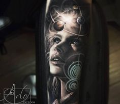 Atomic Solar System tattoo by Arlo Tattoos