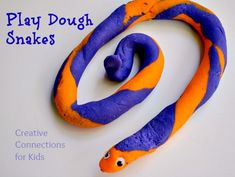 Play Dough Snakes - fun!