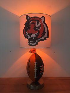 Cincinatti Bengals Football Lamp Nfl Light Kids Night Light Man Cave Browns Football Cincinatti Sports Light Nfl Home Decor