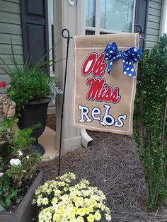 Ole Miss Rebels Flag by ThingsWeLove2014 on Etsy