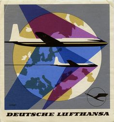 How cool is this! Deutsche Lufthansa by Art of the Luggage Label, via Flickr
