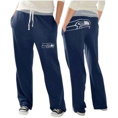 Seattle Seahawks Ladies Recruit Fleece Pants - College Navy