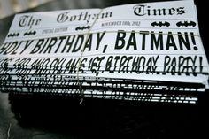 Holy baby shower batman!Batman Comic Book Style Superhero Newspaper Birthday Party or Baby Shower Printable Invitation