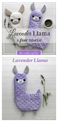 DIY fabric lavender llama hotpack Free sewing pattern + tutorial, I really like a great, easy sewing project. Sewing Patterns Free, Free Sewing, Pattern Sewing, Free Pattern, Pattern Fabric, Softie Pattern, Knitting Patterns, Animal Sewing Patterns, Baby Clothes Patterns