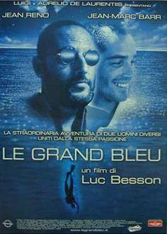 Le Grande Bleu (1988), dir Luc Besson; avec Jean Reno & Jean-Marc Barr. Musique: Éric Serra.