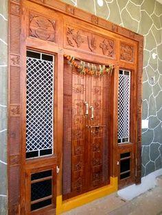 Pooja Room Door Design, Pooja Rooms, Main Door, Room Doors, Door Locks, Armoire, Entrance, Furniture, Home Decor
