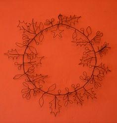 wire wreath. from: http://odilebailloeul.typepad.com/blog/sculpture/