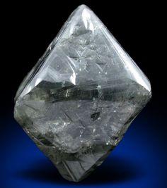 Uncut Rough Diamond Crystal No. 57264 for sale of Diamond carat gray octahedral crystal) from Republic of Sakha, Siberia, Russia. Raw Gemstones, Minerals And Gemstones, Crystals Minerals, Rocks And Minerals, Stones And Crystals, Rough Diamond, Diamond Cuts, Uncut Diamond, Gem Diamonds