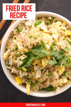 If you love fried rice you're gonna love this easy make at home fried rice recipe. Fried rice is so simple and you can use your favorite ingredients to customize your fried rice any way you like. Turn your leftovers into a tasty fried rice meal that your family will love. Use it as a main dish or side dish either way it will be one of your new go to recipes. #FriedRiceRecipe