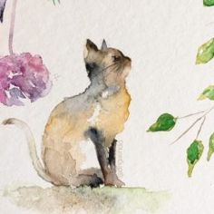 Ideas for cats art drawing watercolor painting Watercolor Paintings Of Animals, Watercolor Pictures, Watercolor Cat, Animal Paintings, Art Paintings, Watercolor Beginner, Watercolor Artists, Watercolour Painting, Cat Art
