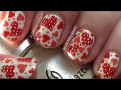 ❀ Blog - http://www.arcadianailart.com   ✼ Twitter - https://twitter.com/ArcadiaNailArt   ❂ How To Paint Your Other Hand - http://www.arcadianailart.com/p/one-of-most-common-questions-im-asked.html     BeautifulYouTV's Valentine's Day Make-Up Tutorial - http://www.youtube.com/watch?v=kdKZAt1Lbfc  and her channel - http://www.youtube.com/beautifulyout...