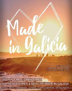MADE IN GALICIA 2016. Ilusionados porque empezamos nueva feria en esta ciudad tan bonita. ¿Lugar? Jardines de Méndez Núñez en A Coruña. 16/08/2016.