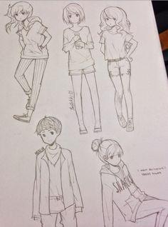 Anime sketches- tootokki