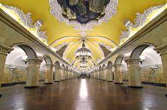 Komsomolskaya subway station, Moscow