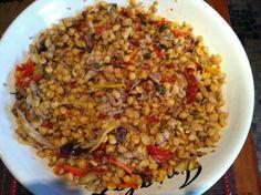 Salada de Bacalhau com Grão de Bico    Marydesign.com.br  #bacalhau #graodebico #comida #cozinha
