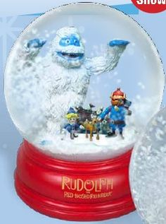 Rudolph Bumble Chase Snow Globe, 2012 Christmas Snow Globes, Christmas Time, Rudolph The Red, Red Nosed Reindeer, Things That Bounce, Snowman, Bass, Products, Snowmen