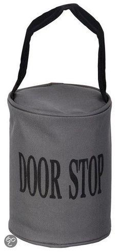 Kunststof deurstopper met ring zwart