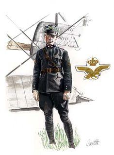 Ufficiale Pilota in tenuta ordinaria - Italian Royal Air Force WW1, pin by Paolo Marzioli