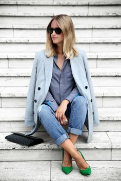 Long Coat With Jeans With Topshop Heels