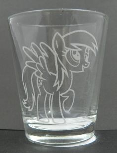 Derpy Hooves Etched Shot Glass by Toyponystudios on Etsy, $8.50