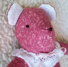 Clarisse the Little Teddy Bear by ellemardesigns on Etsy, $12.00