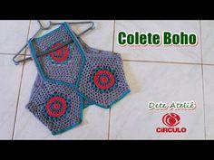 Colete Boho em Crochê by Claudete Azevedo - YouTube