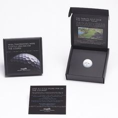 Golf ball golf tournament invitation box by Sneller. #customboxes #snellercreative #custommarketingmaterials snellercreative.com