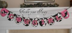 Cowgirl Fabric Banner for Birthday or Room by TickleYourFancyShop, $35.00