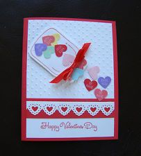 Stampin Up Handmade Valentine 3 card kit - Sample + make 2 - Mason jar, Hearts