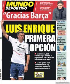 Los Titulares y Portadas de Noticias Destacadas Españolas del 21 de Julio de 2013 del Diario Mundo Deportivo ¿Que le pareció esta Portada de este Diario Español?