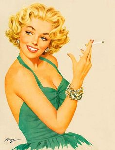 Why does smoking have to look so glamorous??  http://www.kickstarter.com/projects/1925960215/art-of-the-pin-up-girl-staged-reading-of-a-new-mus