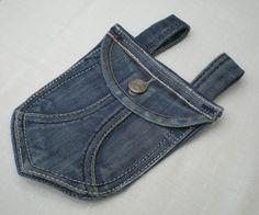 """Gürteltäschchen aus Jeans """" Upcycling"""" von Gasani  auf DaWanda.com"""