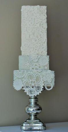 Lace Cake - Cake by https://www.facebook.com/Albena.cakes www.albenacakes.com