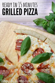 Looking for an easy grilling recipe? How to Grill Pizza in 15 Minutes. This easy grilled pizza recipe tastes great and is perfect for a weeknight meal.