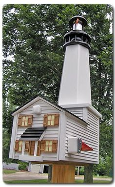 Beacon Point Lighthouse Deluxe Wooden Mailbox Wooden Mailbox, Unique Mailboxes, Mailbox Ideas, You've Got Mail, Mail Boxes, Lighthouses, Home Projects, Nautical, Diy And Crafts