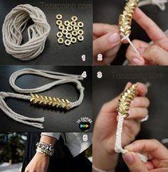 Cómo hacer pulseras con tuercas. A veces los materiales que tenemos en el hogar nos sirven para realizar nuestros accesorios, hoy creamos una pulseras con