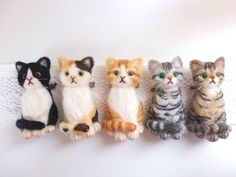 Wool Needle Felting, Needle Felted Animals, Felt Animals, Cute Baby Animals, Felt Dogs, Felt Cat, Felting Tutorials, Cat Crafts, Soft Sculpture