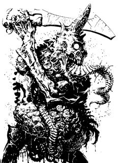 Not a Warhammer player, but I love its Chaos world. Ink on paper. A sketch made for fun. Plaguebearer of Nurgle Chaos 40k, Black And White Artwork, Warhammer Fantasy, Horror Art, Cool Art, Awesome Art, Character Art, Fantasy Art, Beast