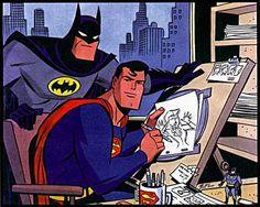 More Like A Justice League, Superman and Batman by Bruce Timm Bruce Timm, Batman Vs Superman, Batman Comics, Batman Poster, Batman Artwork, Alex Ross, Mike Mignola, Jim Lee, Cultura Nerd