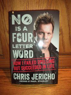 Wwe Books, Chris Jericho, Paul Stanley, Four Letter Words, Fails, Author, Lettering, Cover, Life